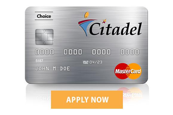Apply for a Credit Card at Citadel