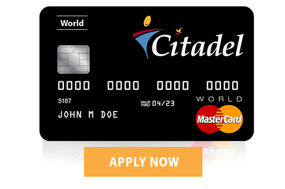 citadel world credit card