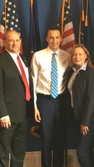 Citadel Senior Vice President Ed Maier, Congressman Ryan Costello, and Citadel Board Member